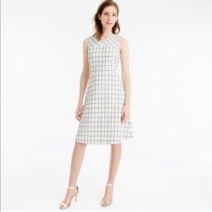J. Crew  Sleeveless A-line Windowpane Tweed Dress